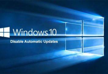 Blokowanie aktualizacji w systemie Windows 10: instrukcje krok po kroku, z opisem i zaleceniami