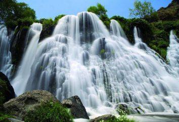 Shaki Chute d'eau en Arménie: la description, caractéristiques