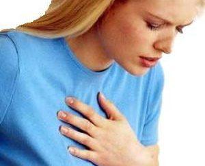 Was kann von Schmerzen in der Brust in der Mitte der Brust verursacht werden?