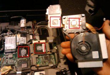Wymiana pasty termoprzewodzącej na laptopie Lenovo Z570: instrukcja