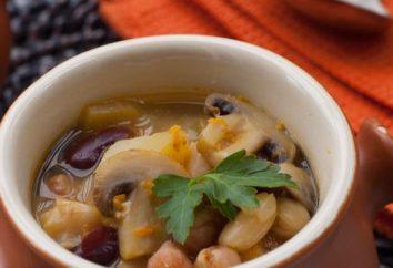 Rich soupe de cèpes (fraîche): première recette de plat