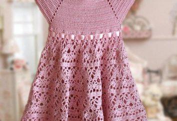 Como a tricotar bebê vestido de crochê: o esquema e descrição