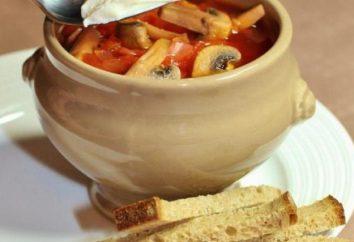 Borsch com cogumelos e feijão: a receita
