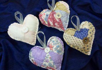 Corazones de tela con sus manos. Cómo hacer un corazón? Corazones de tela