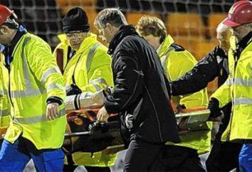 peligro de fútbol o la muerte en el campo de fútbol