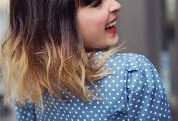 Färben von Haaren kurze Haare (Foto)