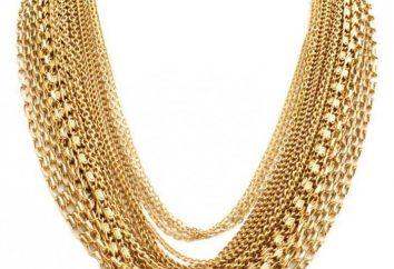 Tejiendo cadenas de oro: tipos, descripción, foto