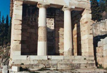 Starożytna świątynia. Elementy dawnej architektury