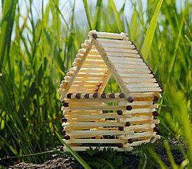 Cómo hacer una casa de cerillas? Haciendo que la casa de fósforos con sus propias manos