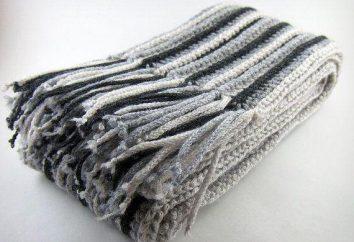 Masculino crochet lenço: o esquema e descrição