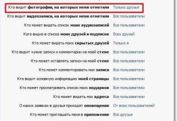 Détails sur la façon de cacher la page intéressante « VKontakte »
