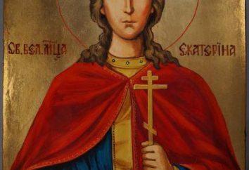 Katharina die Große-Symbol. Das Leben eines Heiligen, die Anbetung und Gebet
