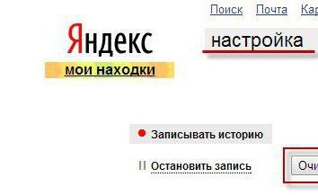 Jak usunąć historię w telefonie w Yandex i wyczyścić historię wyszukiwania