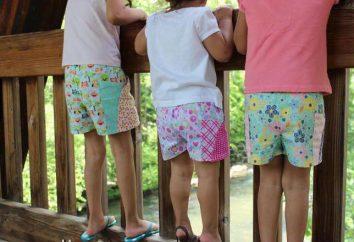Pantalones cortos de bebé: patrón para una banda elástica para una niña