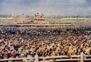 O desastre de Khodynka de 1896 em Moscou