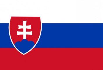 flag Eslováquia e brasão de armas do estado