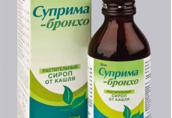 """""""Suprema-bronco"""": istruzioni per l'uso del farmaco. Commenti sulla applicazione di sciroppo per la tosse """"bronco-Suprema"""""""