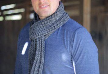 Gestrickter männlicher Schal: Beschreibung von mehreren einfachen Modellen