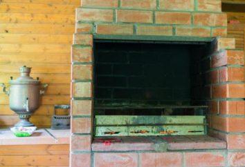 Les foyers extérieurs – un feu de camp, barbecue et barbecue au chalet
