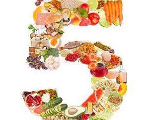 Cuadro No. 5: La dieta y el menú ejemplar