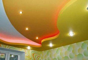 Tela de estiramiento techo: los pros y los contras. La instalación de la tela techos suspendidos