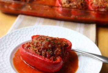 Nadziewana papryka: połówki w piecu z mięsem mielonym lub kurczakiem