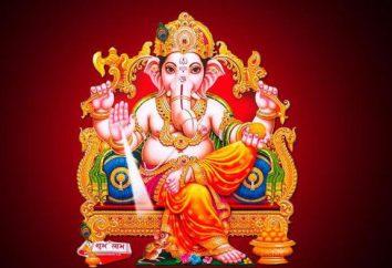 Dio Ganesha (l'elefante). In Induismo, il dio della saggezza e della prosperità