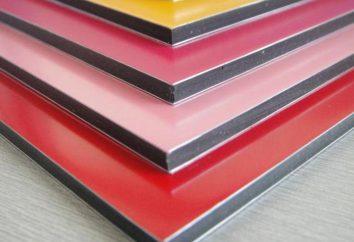 Panneau composite: la taille, la couleur, photo, production, installation