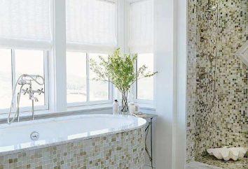 Banho em um mosaico: bela e elegante