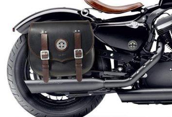 Hintere Kofferraum für ein Motorrad. Onward reisen!