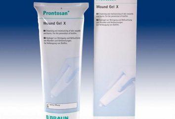 """Lek """"Prontosan"""" (żel) instrukcje użytkowania, prawdziwe odpowiedniki i składu"""