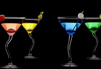 verre et cocktails Martini sur cette base