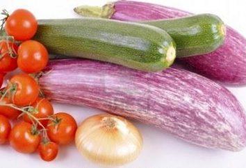 Plat simple de courgettes et d'aubergines
