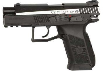 Pistolet pneumatyczny CZ 75: dane techniczne i opinie