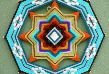 Handgeschöpftes Weben: Mandala mit seinen eigenen Händen