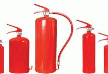 Extintor de DU-5: objetivo, os recursos da aplicação, especificações