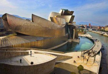 atracções coloridas Bilbao que transportam turistas para o passado e o futuro