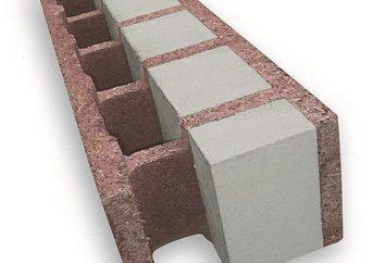 Wood-betonowe bloki: niedociągnięcia, opinie, specyfikacja