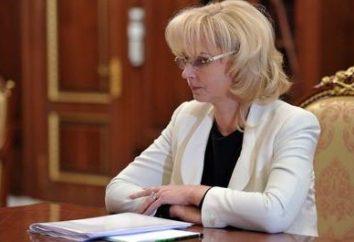 Biographie Tatiana Golikova. Faits et caractéristiques intéressants