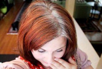 Come nascondere i capelli grigi per i capelli scuri in casa?