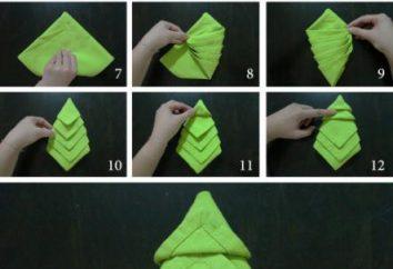 Árbol de navidad de servilletas con sus manos