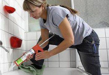 Uszczelnianie kąpiel ze ścianą: opis technologii, funkcji i opinie