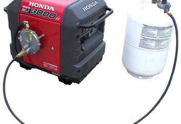Generator gazu: urządzenie typy, zalety
