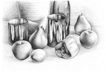 Jak narysować martwą naturę. malowanie i akwarele olej