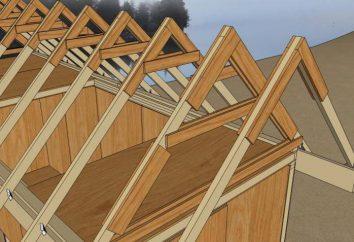 Satteldach: Traversensystem unter dem Belag, ein Foto, eine Zeichnung. Die Berechnung, die Installation von Dachsystem mit eigenen Händen ein Satteldach. Der Abstand zwischen den Sparren unter dem Satteldach Decking