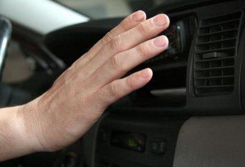 Le traitement antibiotique de climatiseur d'automobile. Le fonctionnement d'un manuel de l'automobile