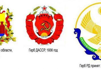 Las armas y la bandera de Daguestán