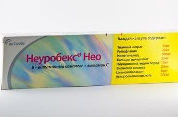 """""""Neurobeks Neo"""": comentários. Um complexo de boa vitamina B"""
