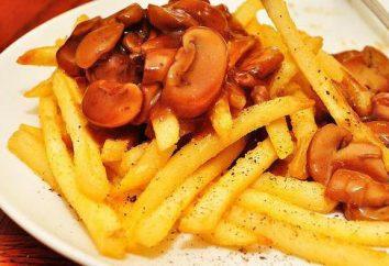 Pommes de terre frites aux champignons congelés: recettes