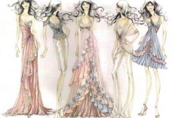 É hora de aprender a desenhar um esboço do vestido